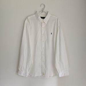 RALPH LAUREN White Oxford Shirt, XXL